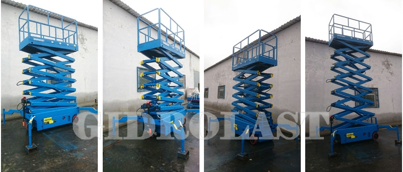 Scissor lift with electrical pulling device
