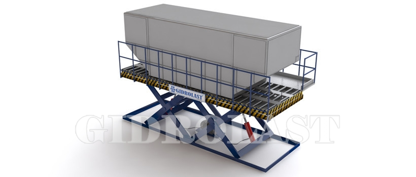 Cargo heavy duty scissors lift