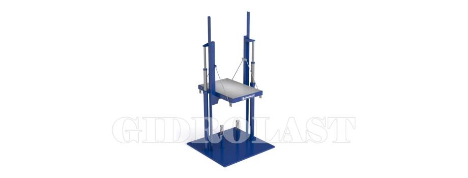Twin holeless hydraulic elevators